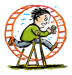 Hamster-wheel-man
